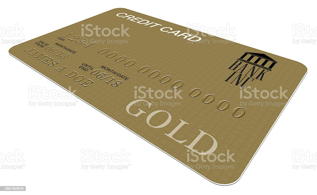 Gold Card (Fictitious) royalty-free stock photo