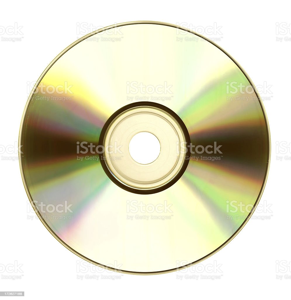 Gold CD or DVD stock photo