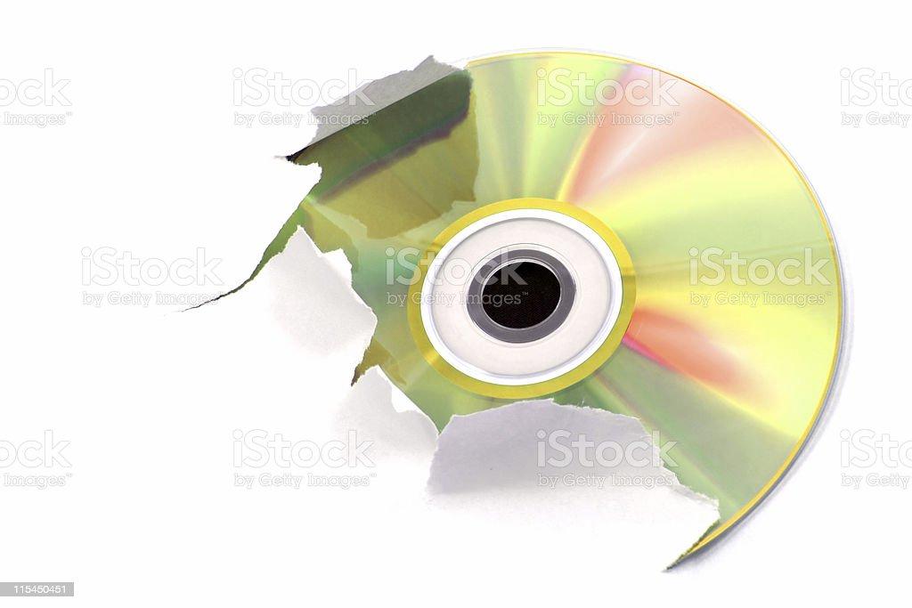 Gold cd stock photo