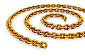 Gold Chain coil