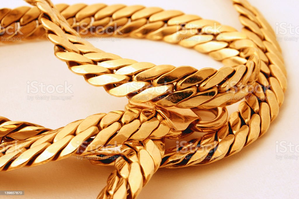 gold chain details #2 stock photo