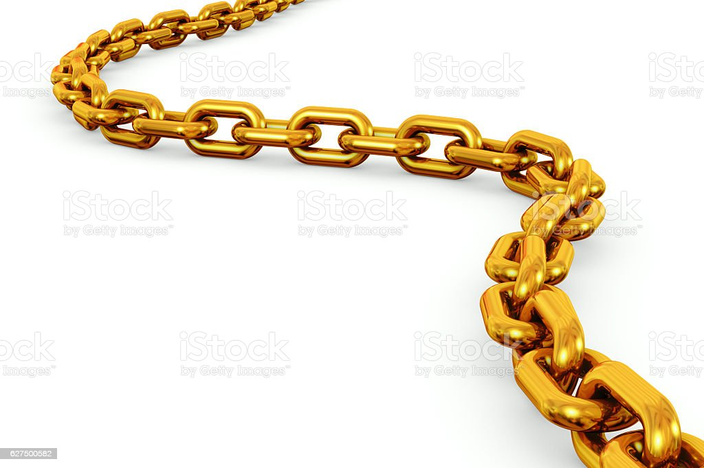 Gold Chain Isolated stock photo