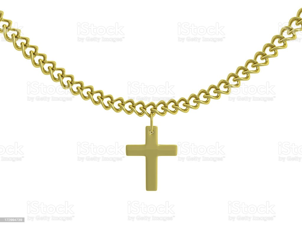 Gold Chain royalty-free stock photo