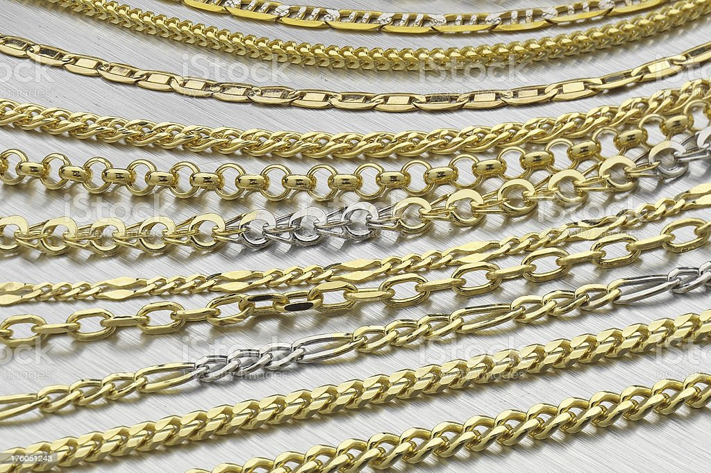 Gold Chains royalty-free stock photo