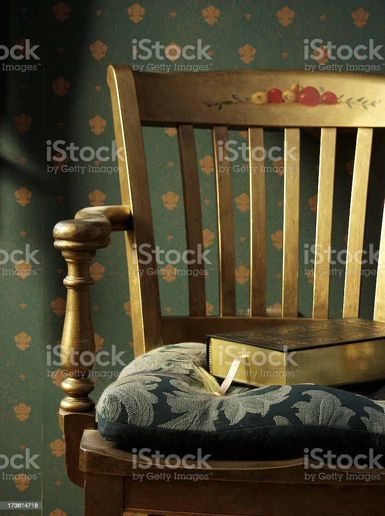 gold chair royalty-free stock photo