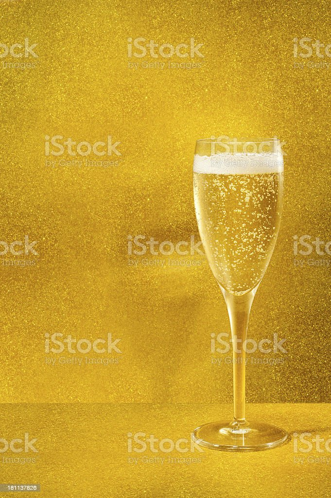 Gold Champagne royalty-free stock photo