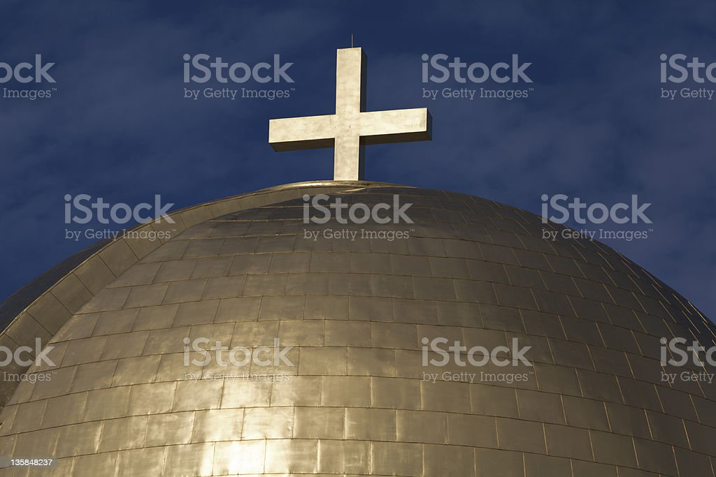 Gold Chapel Dome royalty-free stock photo