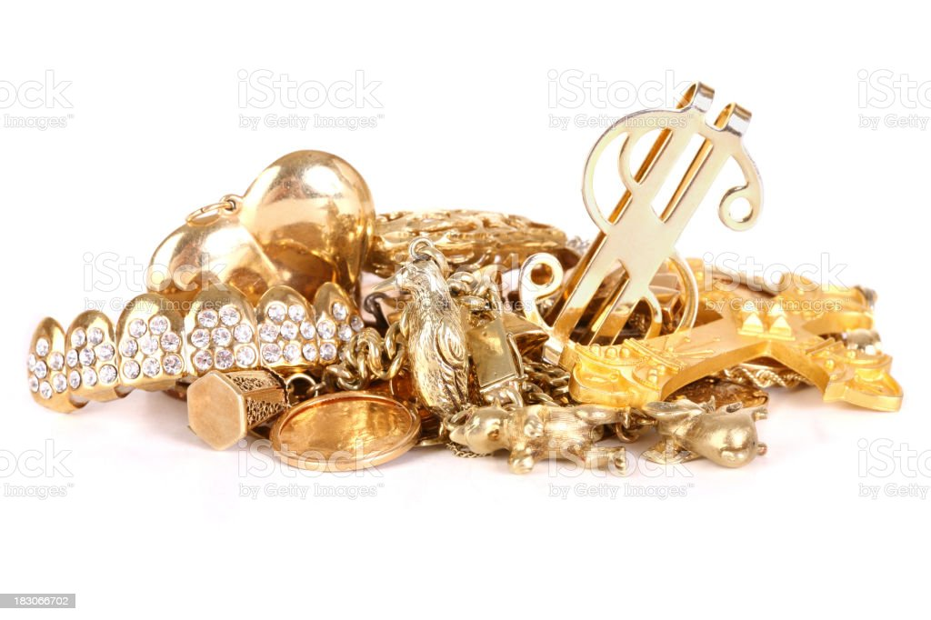Gold Charms stock photo