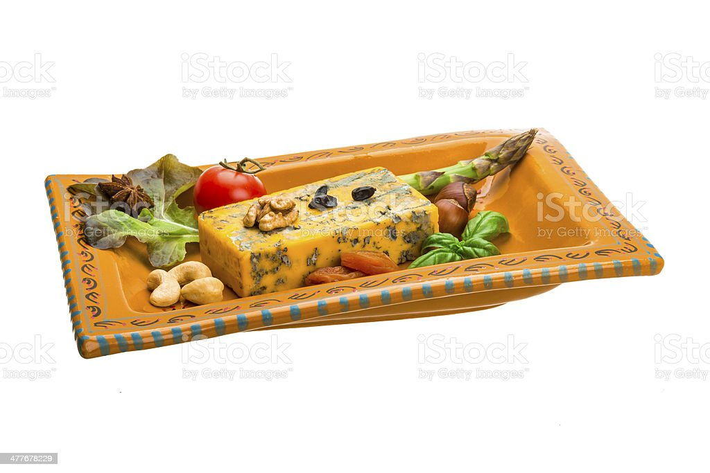 Gold cheese with mould royalty-free stock photo