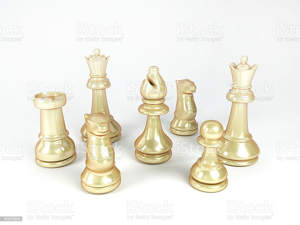 gold chess royalty-free stock photo