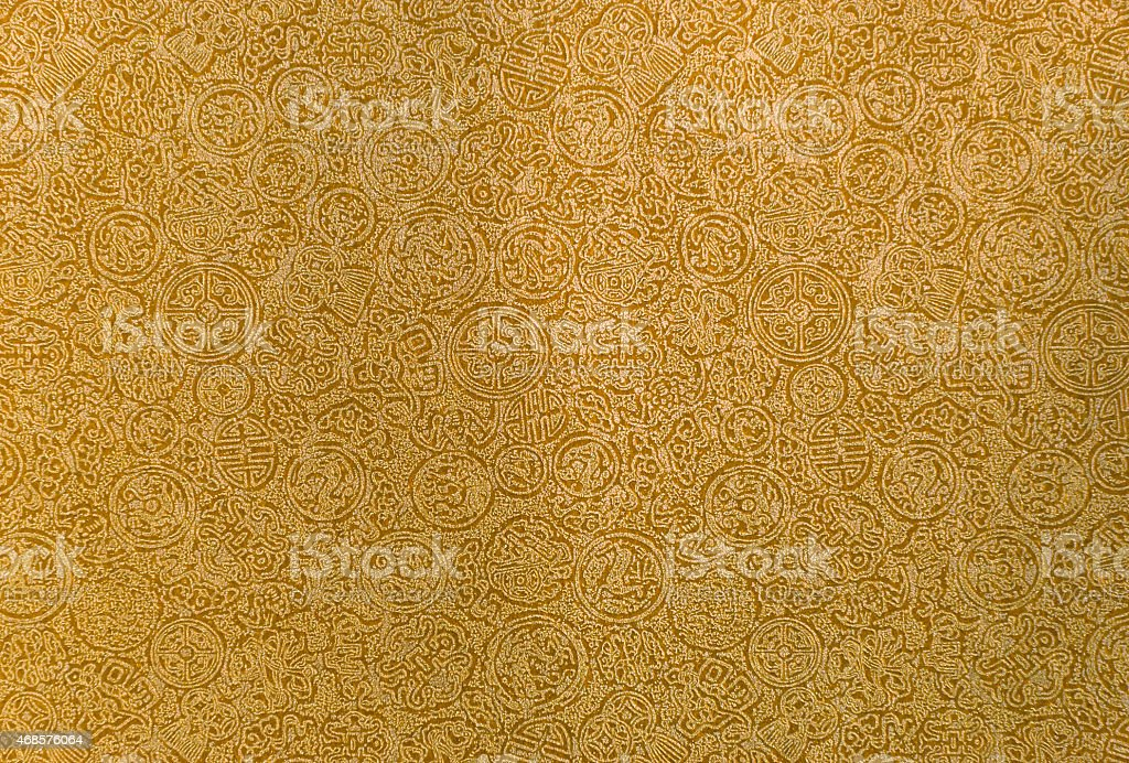 Gold Chinese paper pattern royalty-free stock photo