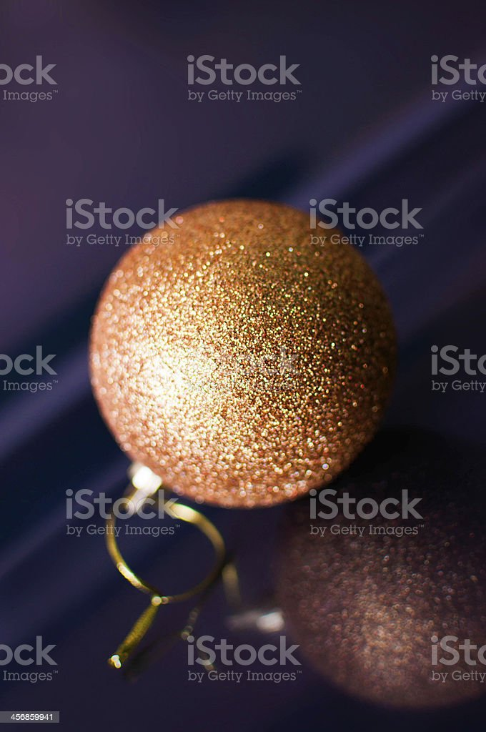 Gold Christmas ball royalty-free stock photo