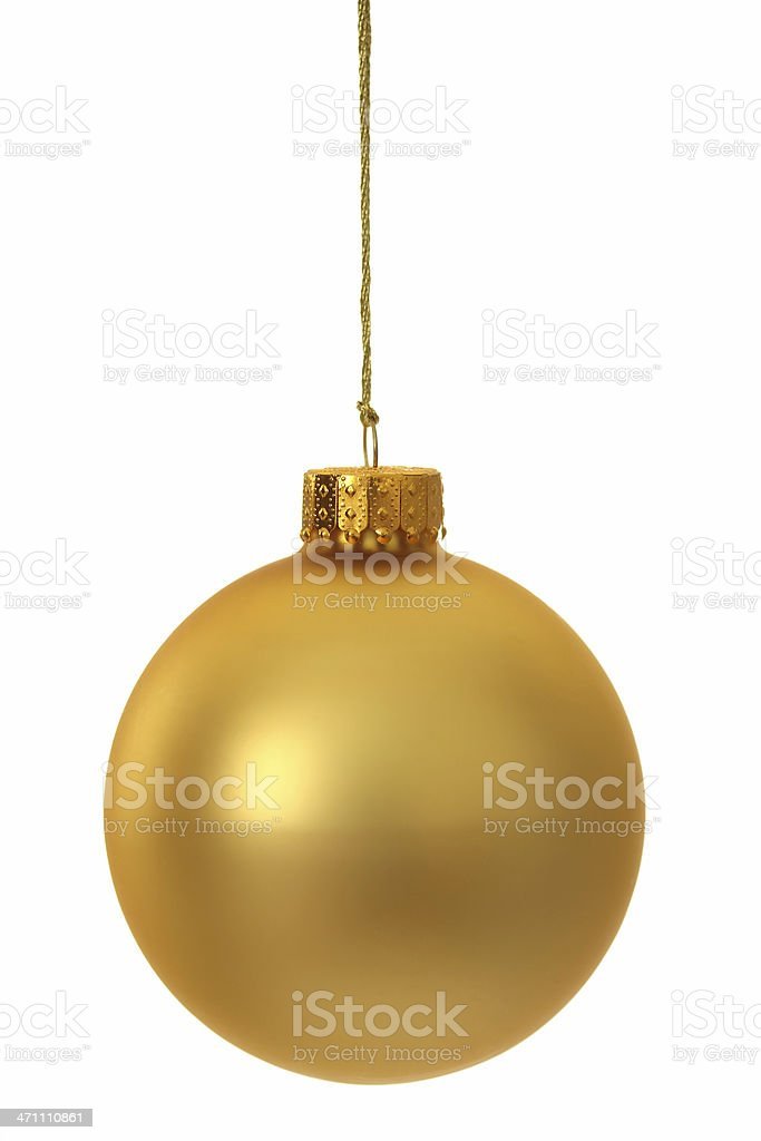 Gold Christmas Ornament royalty-free stock photo