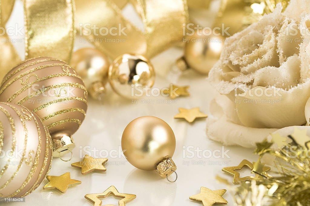 Gold Christmas royalty-free stock photo