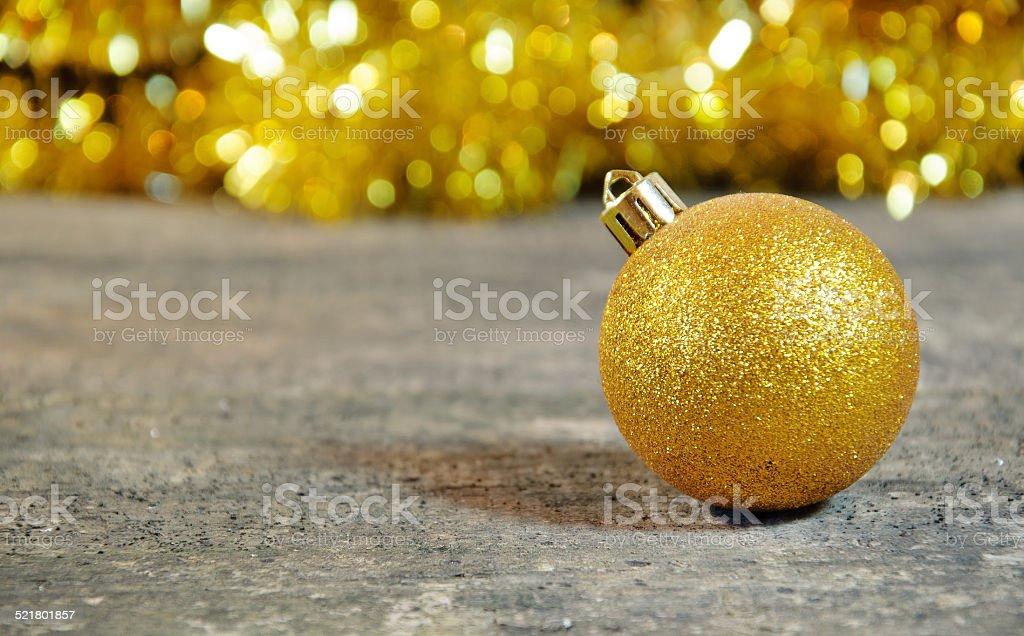 Gold Christmass ball stock photo