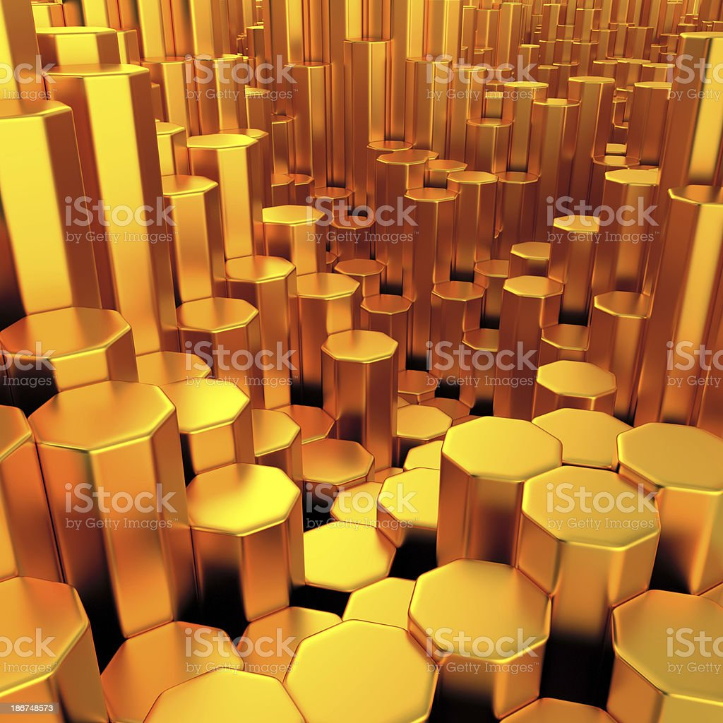 Gold City royalty-free stock photo