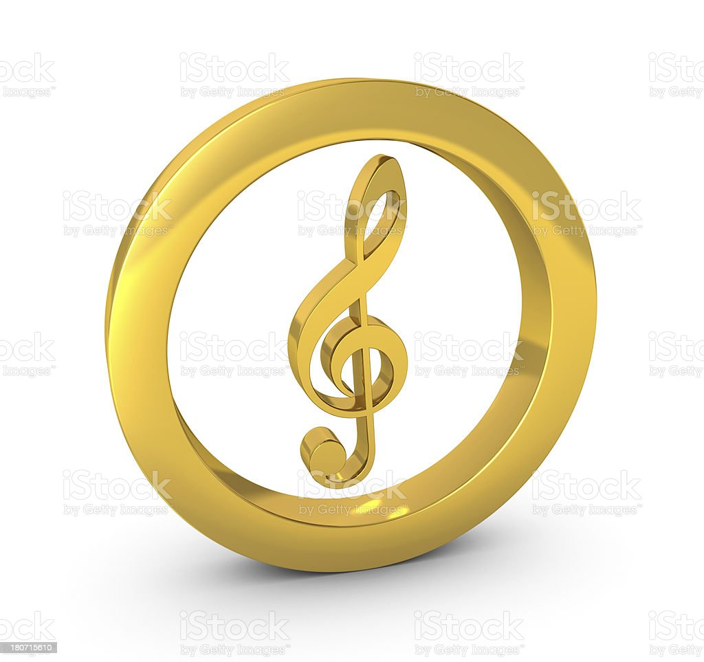 Gold Clef royalty-free stock photo