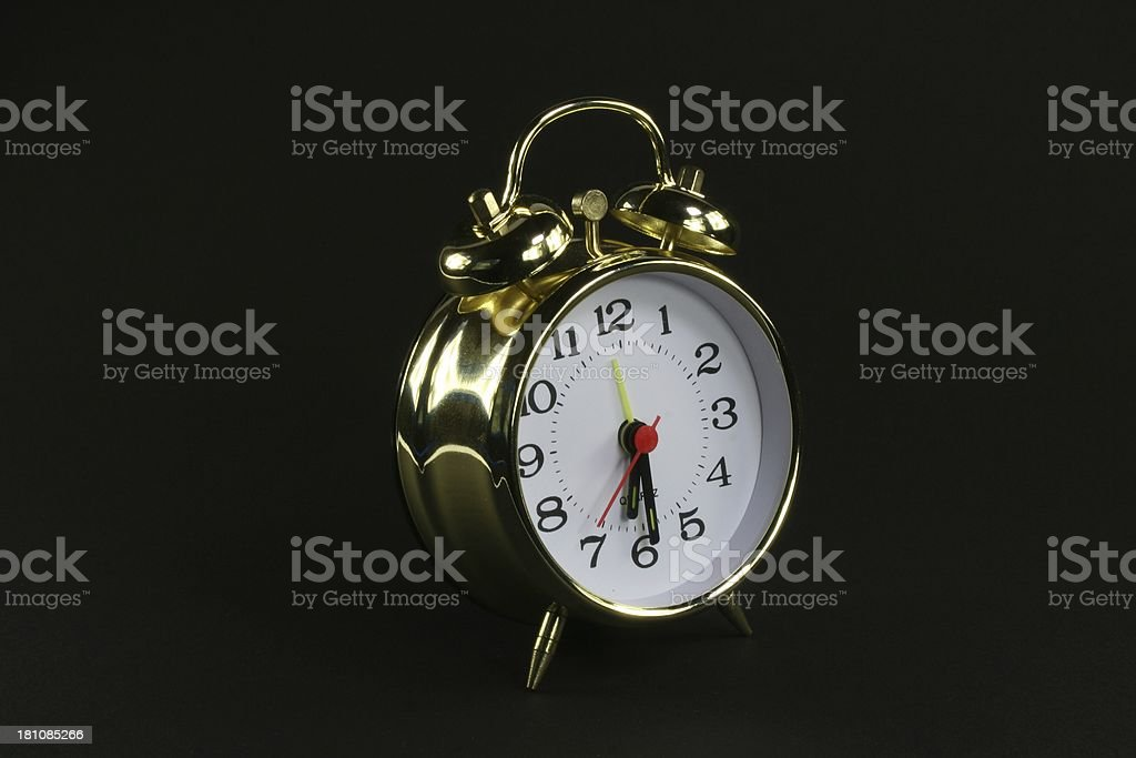 gold clock stock photo