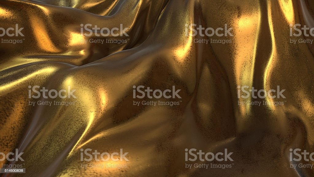 Gold Cloth abstract background royalty-free stock photo