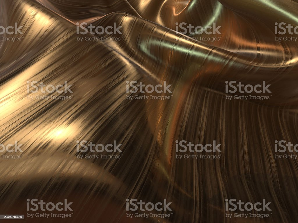 Gold Cloth flying back ground -3D Illustrate royalty-free stock photo