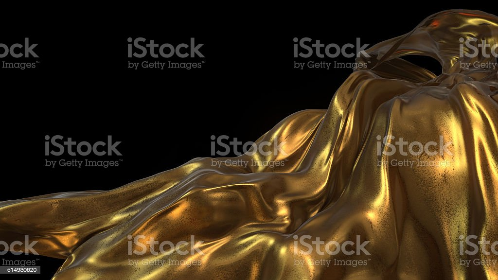 Gold Cloth royalty-free stock photo