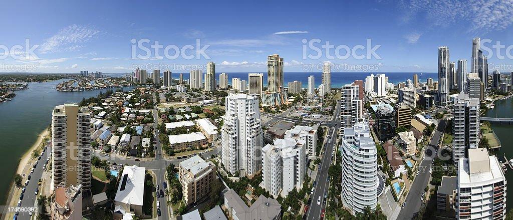 Gold Coast Aerial panorama royalty-free stock photo