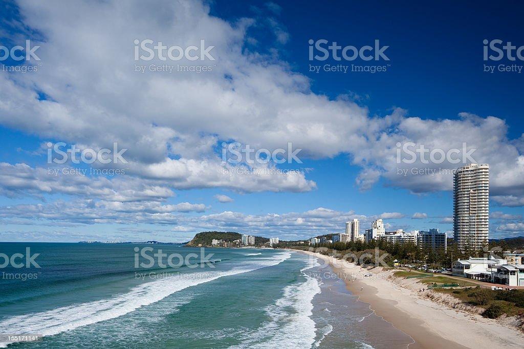 Gold Coast beach, Australia stock photo