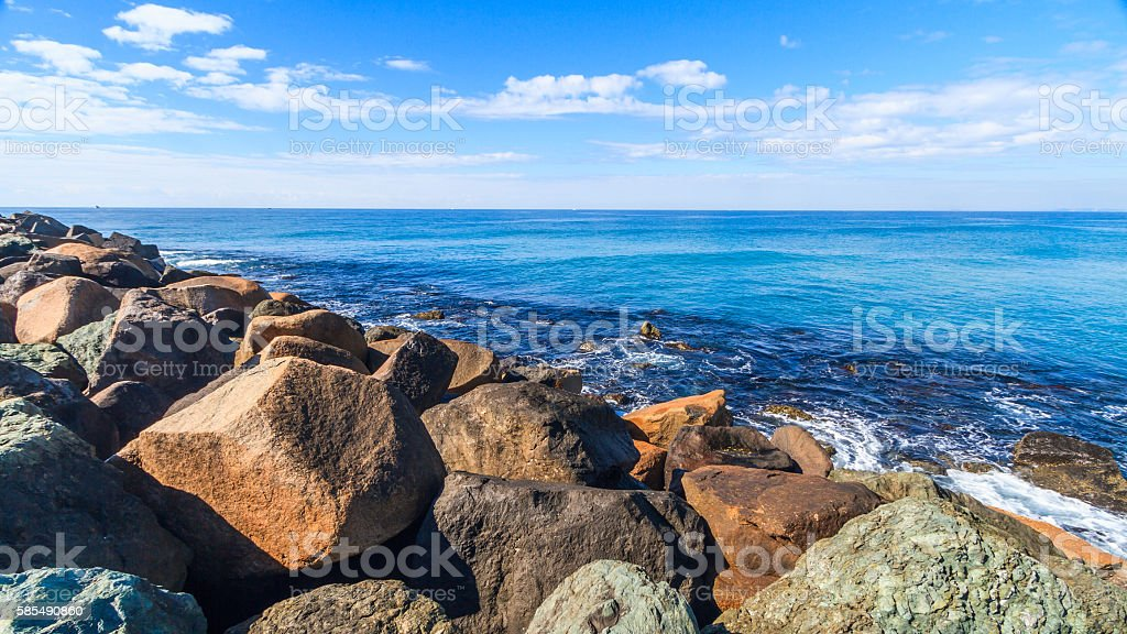 Gold Coast Beach stock photo