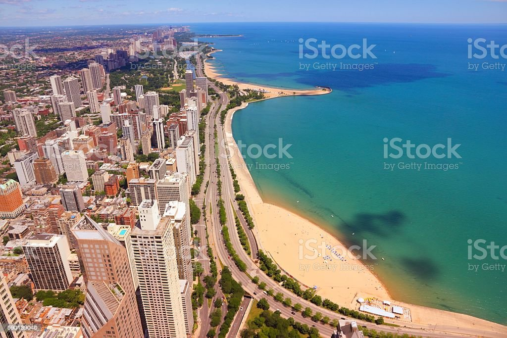 Gold Coast, Chicago stock photo