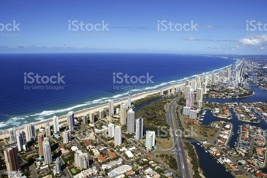 Gold Coast from the Air royalty-free stock photo