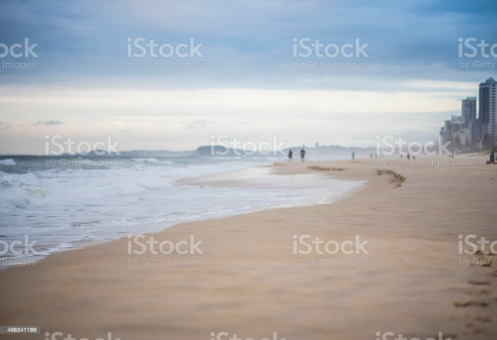 Gold Coast in windy conditions stock photo