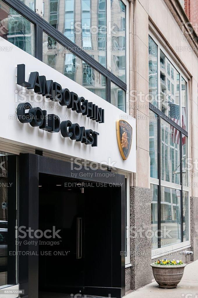 Gold Coast Lamborghini Dealership in Chicago stock photo