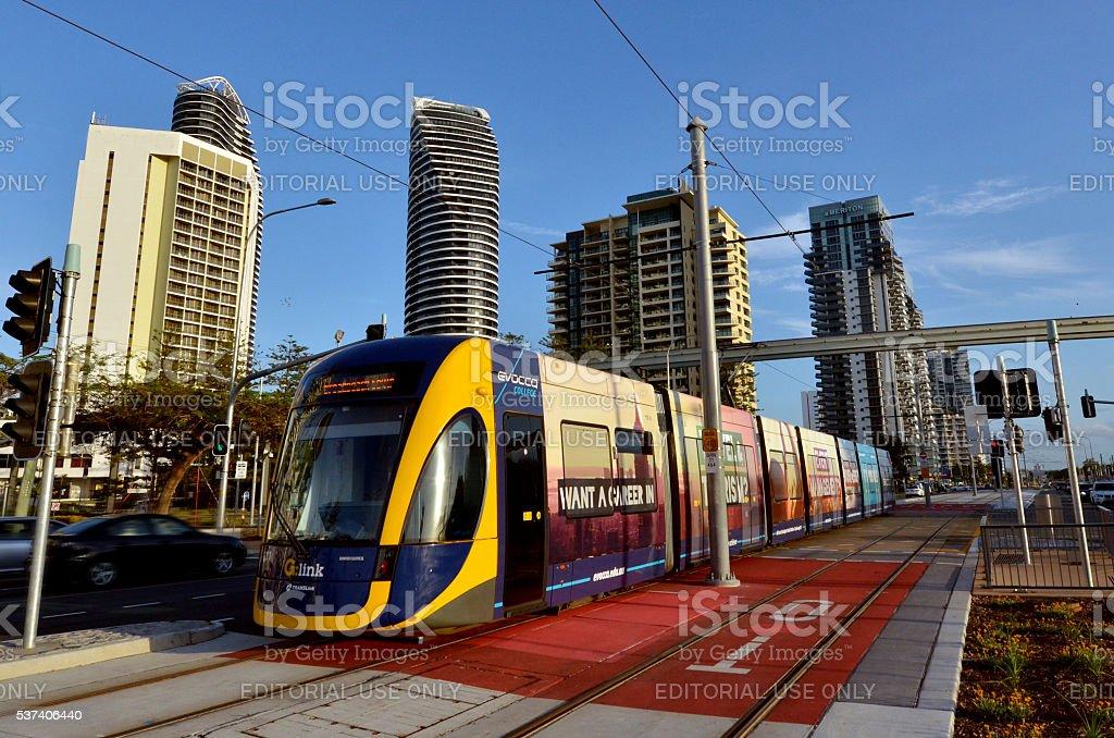 Gold Coast Light Rail G - Queensland Australia stock photo