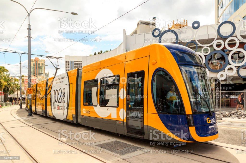 Gold Coast Light Rail. stock photo