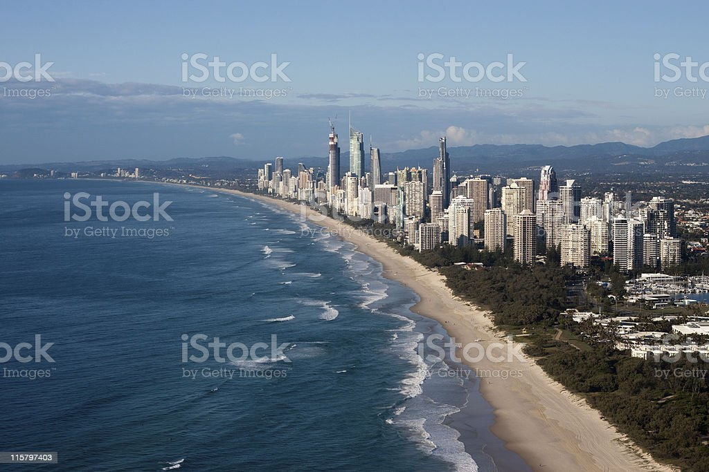 Gold Coast Queensland Australia Coastline Aerial View royalty-free stock photo