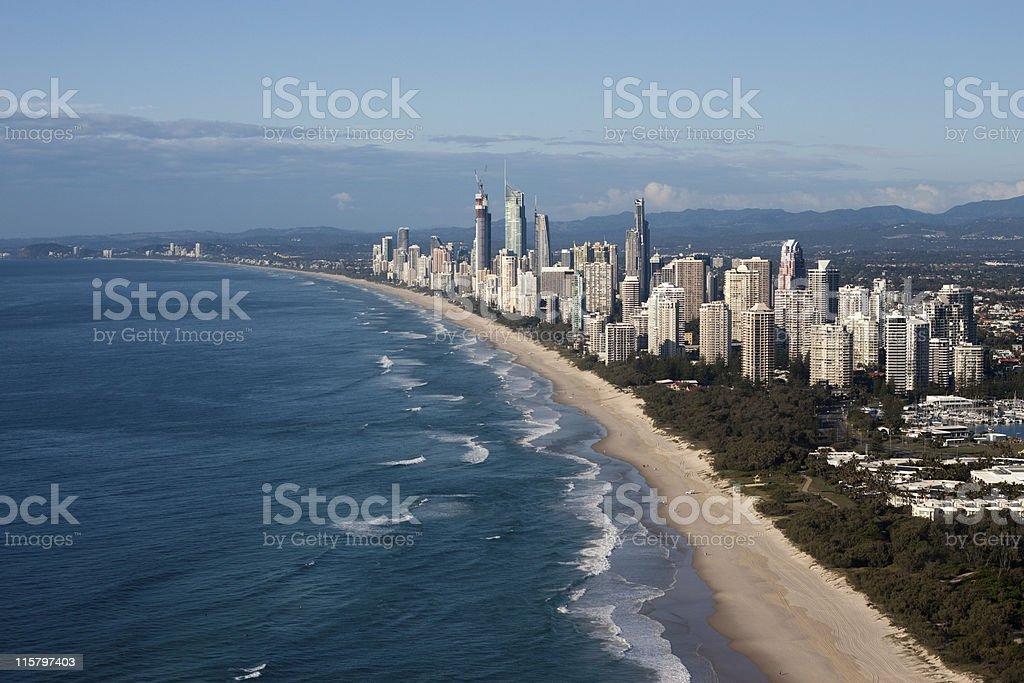 Gold Coast Queensland Australia Coastline Aerial View stock photo