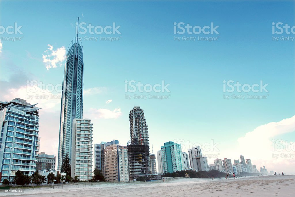 Gold Coast Skyline v2 royalty-free stock photo