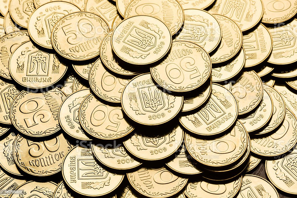 Gold coin background stock photo
