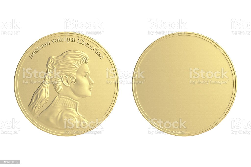 Gold Coin / Medal stock photo