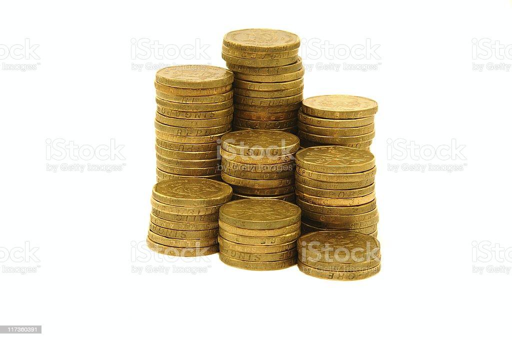 Gold coins graph stock photo