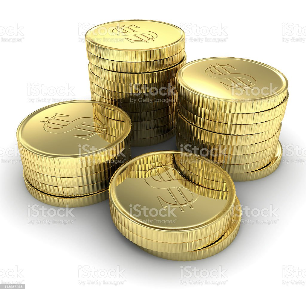 Gold Coins royalty-free stock photo