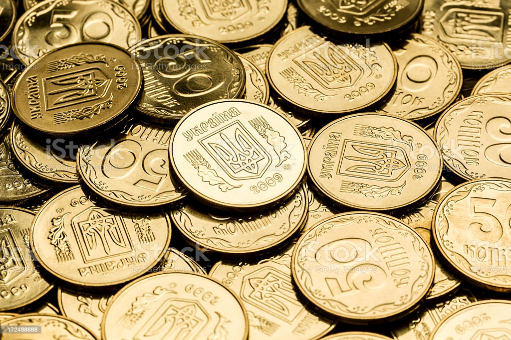 Gold color coin background stock photo