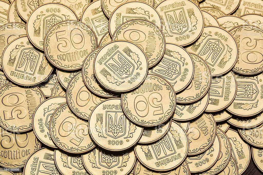 Gold color coins background royalty-free stock photo