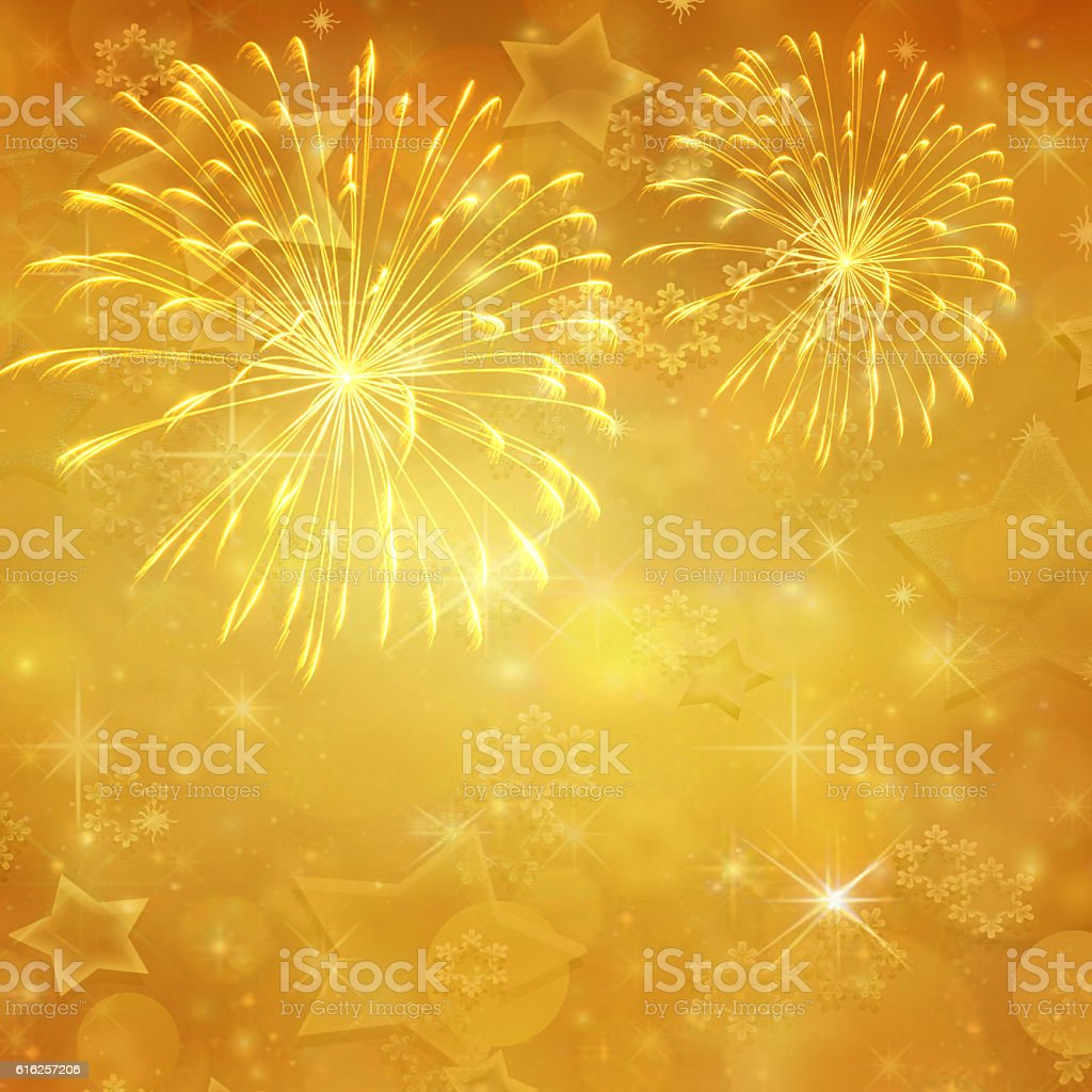 Gold colored holiday background vector art illustration