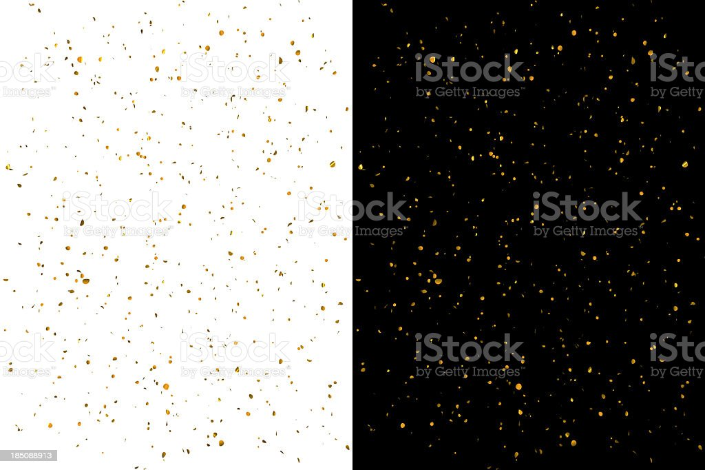 Gold Confetti Celebration stock photo