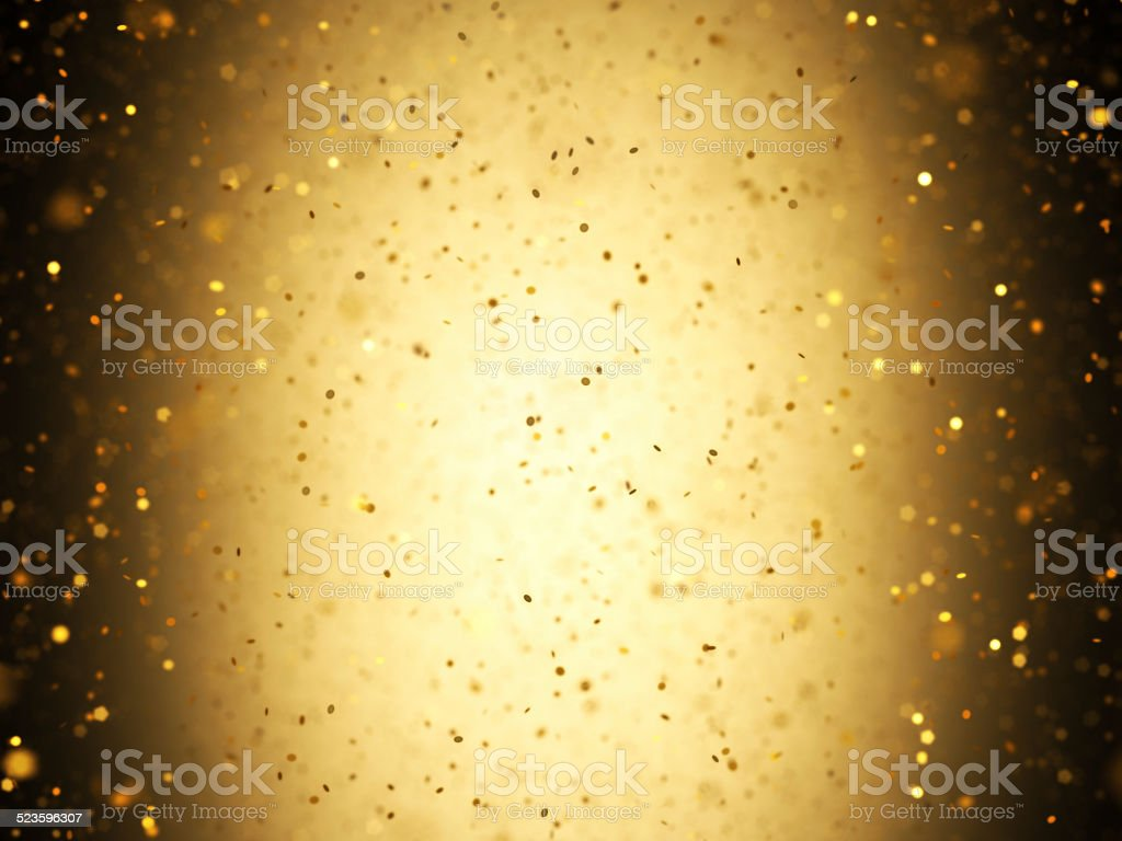 Gold Confetti stock photo