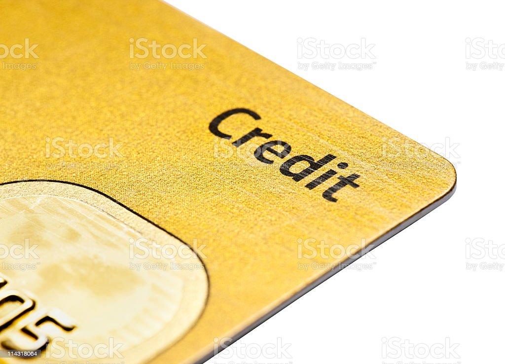 Gold credit card royalty-free stock photo