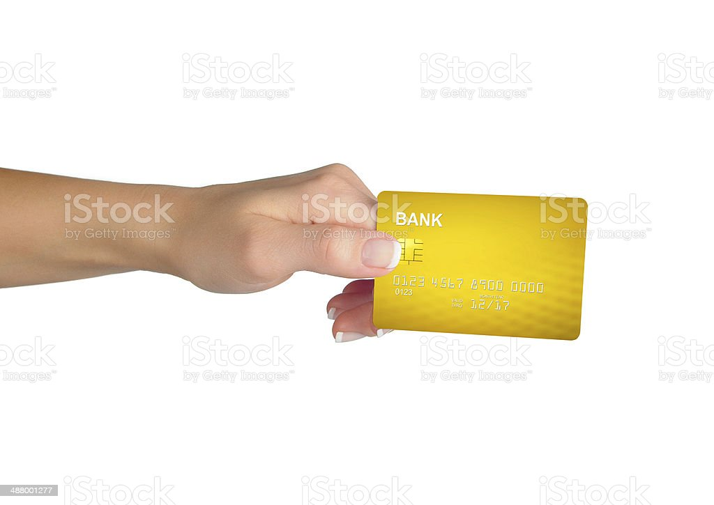 Gold credit card stock photo