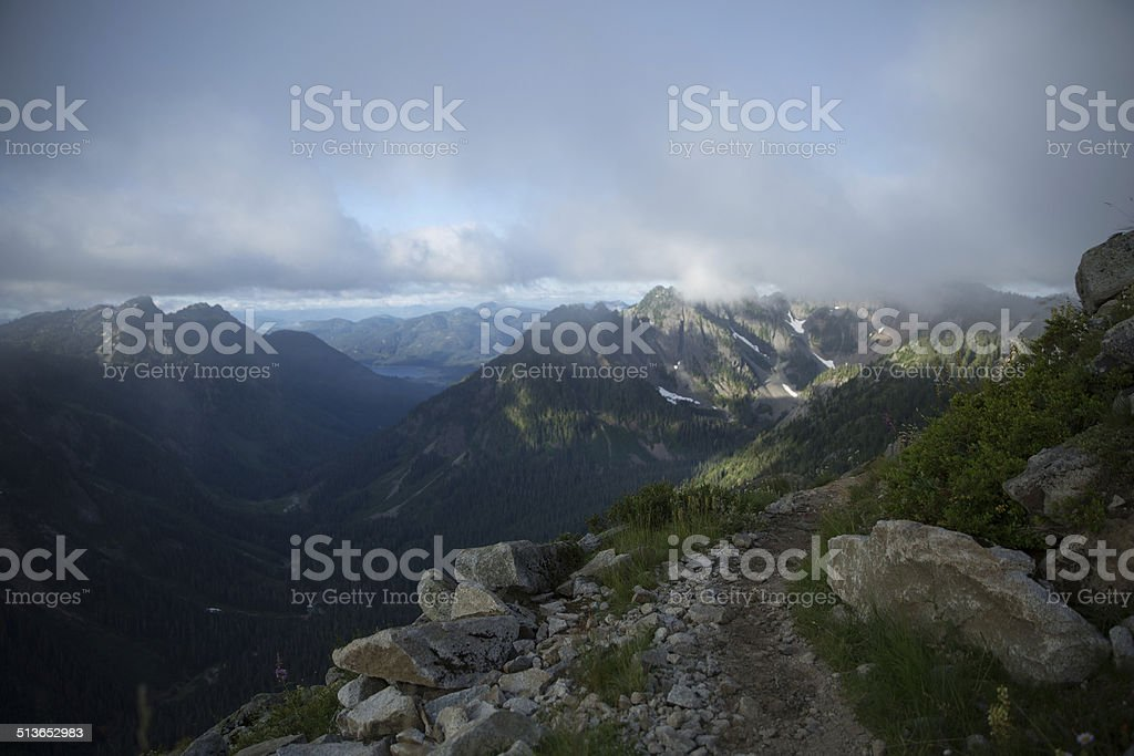 Gold Creek Valley stock photo