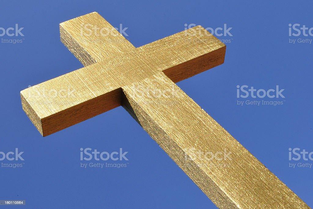 Gold Cross royalty-free stock photo